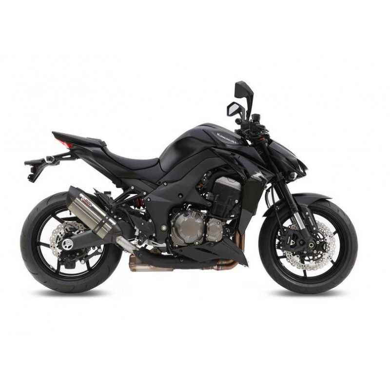 PAIR OF MIVV SOUND EXHAUST SYSTEMS IN STAINLESS STEEL WITH CARBON BASE FOR KAWASAKI Z 1000 2014/2016, APPROVED