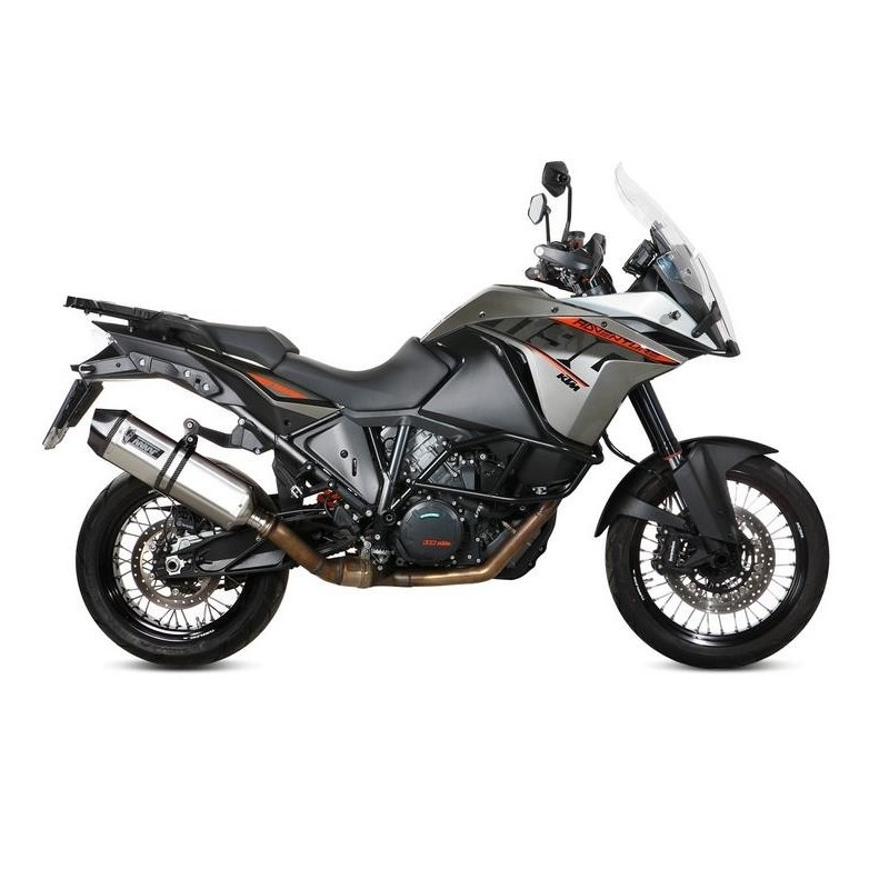 MIVV SPEED EDGE EXHAUST TERMINAL IN STAINLESS STEEL FOR KTM 1190 ADVENTURE 2013/2016, APPROVED