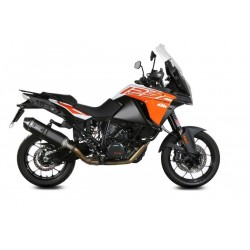 EXHAUST TERMINAL MIVV SPEED EDGE BLACK FOR KTM 1290 SUPER ADVENTURE 2015/2016, APPROVED