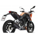 COMPLETE EXHAUST SYSTEM MIVV SUONO BLACK CARBON CUP FOR KTM DUKE 125 2011/2016