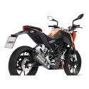 COMPLETE EXHAUST SYSTEM MIVV SOUND IN STAINLESS STEEL CARBON CUP FOR KTM DUKE 125 2011/2016