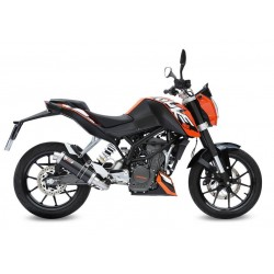 COMPLETE EXHAUST SYSTEM MIVV GP BLACK FOR KTM DUKE 125 2011/2016