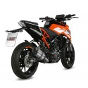 MIVV SOUND EXHAUST SYSTEM IN STAINLESS STEEL CARBON CUP FOR KTM DUKE 125 2017/2020, APPROVED