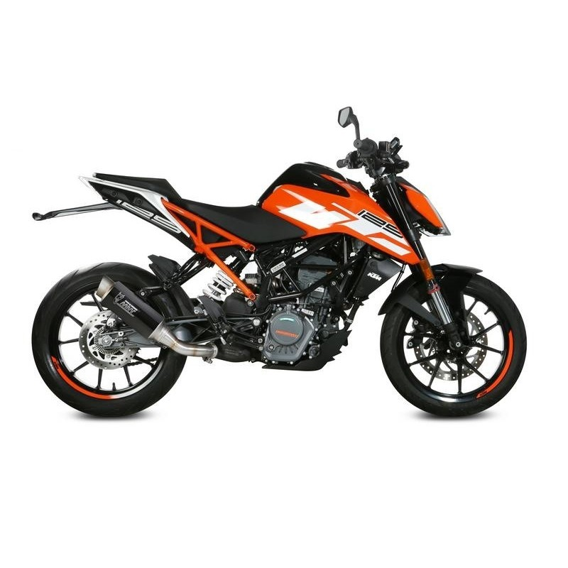 MIVV GP PRO EXHAUST TERMINAL IN CARBON FOR KTM DUKE 125 2017/2020, APPROVED