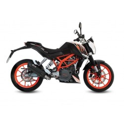 COMPLETE EXHAUST SYSTEM MIVV SUONO BLACK CARBON CUP FOR KTM 390 DUKE 2014/2016