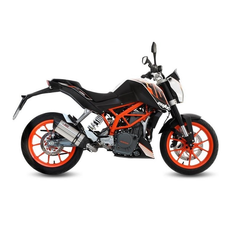 COMPLETE EXHAUST SYSTEM MIVV SOUND IN STAINLESS STEEL CARBON CUP FOR KTM 390 DUKE 2014/2016