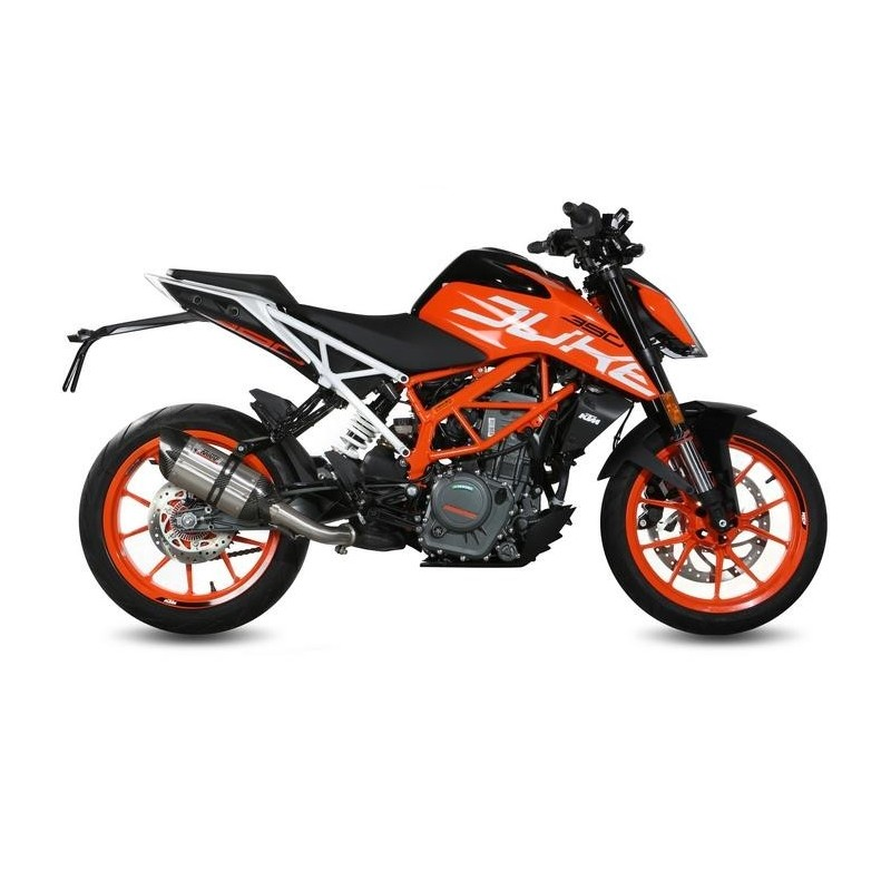 MIVV SOUND EXHAUST SYSTEM IN STAINLESS STEEL CARBON CUP FOR KTM 390 DUKE 2017/2020, APPROVED