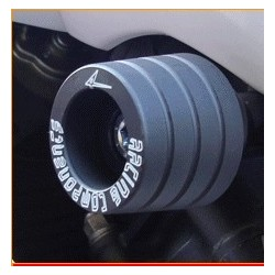 COPPIA TAMPONI PROTEZIONE TELAIO 4-RACING PER DUCATI HYPERMOTARD 1100/S 2007/2009, HYPERMOTARD 1100 EVO 2010/2011