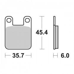 SINTERED CERAMIC REAR BRAKE PADS SET SBS 105 HF FOR APRILIA RS 50 2006/2020
