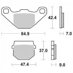 CERAMIC UNINTERESTED REAR PADS SBS 544 HF FOR SUZUKI RM 85 2003/2004