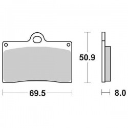 SET PASTIGLIE ANTERIORI SINTERIZZATE SBS 566 HF PER APRILIA RS 250 1995/1996