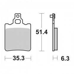 SINTERED REAR BRAKE PADS SET SBS 574 HF FOR KTM SX 65 2000/2001