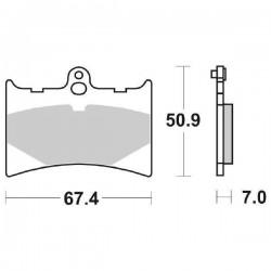 SET PASTIGLIE ANTERIORI SINTERIZZATE SBS 601 HF PER APRILIA RS 125 1998/2005
