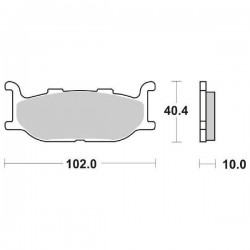 SINTERED FRONT PADS SET SBS 663 HS FOR YAMAHA XV 950 R 2014/2020