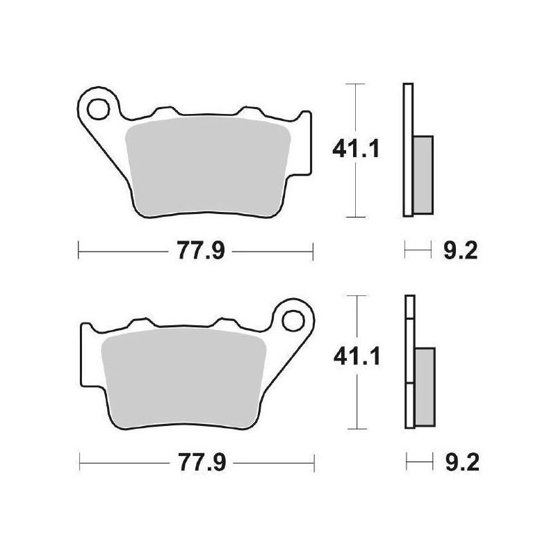 SET PASTIGLIE POSTERIORI SINTERIZZATE CERAMICA SBS 675 HF PER KTM DUKE 200 2011/2016