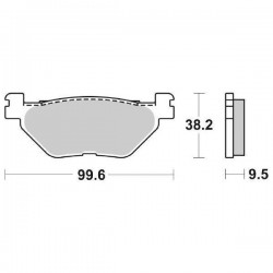 SINTERED REAR BRAKE PADS SET SBS 769 LS FOR YAMAHA XV 950 R 2014/2020