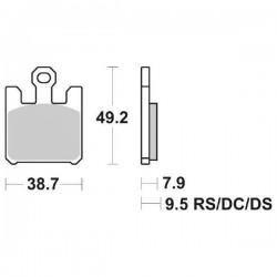 SET PASTIGLIE ANTERIORI SBS DUAL CARBON 788 DC SUZUKI GSX-R 1000 2003