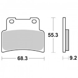 SINTERED FRONT PADS SET SBS 844 HF FOR APRILIA RS 125 2006/2010