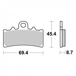 SINTERED CERAMIC FRONT PADS SET SBS 877 HF FOR KTM DUKE 200 2011/2016