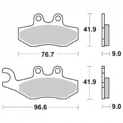 SINTERED FRONT PADS SET SBS 177 MS FOR GILERA NEXUS 250 2006/2008