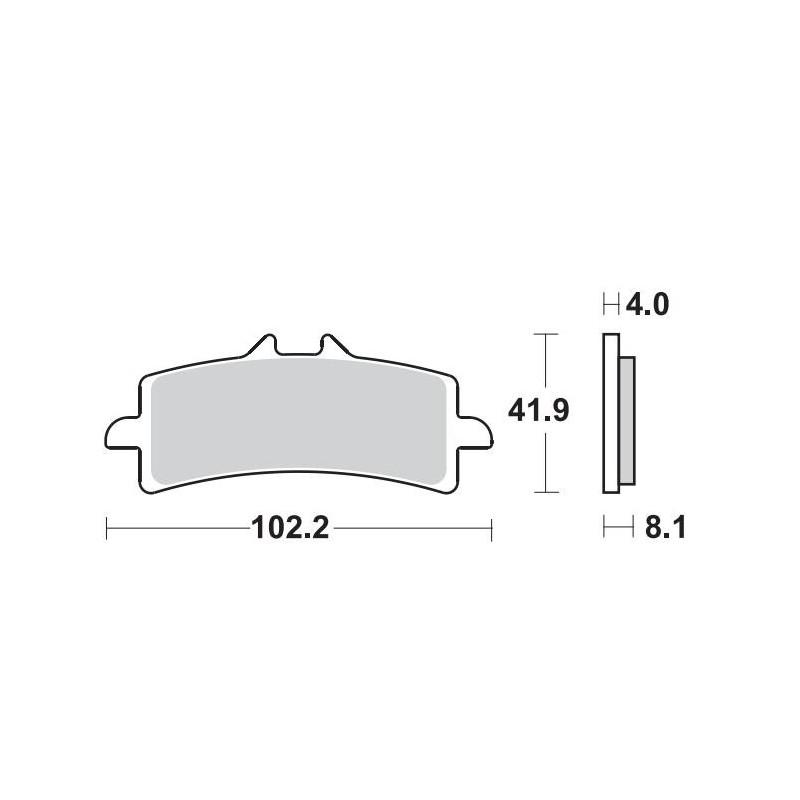 SET PASTIGLIE ANTERIORI SINTERIZZATE SBS 901 HS PER KTM 1290 SUPER DUKE GT 2016/2019