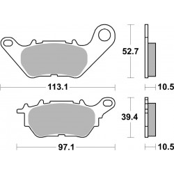 CERAMIC UNINTERESTED REAR PADS SBS 932 HF FOR YAMAHA YZF-R3 2015/2018