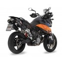 PAIR OF EXHAUST SYSTEMS MIVV OVAL CARBON CUP CARBON FOR KTM SUPERMOTO 990 2007/2011, APPROVED