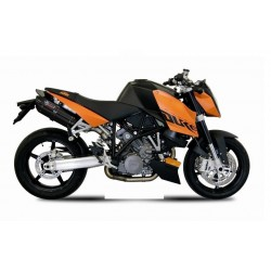 PAIR OF EXHAUST SYSTEMS MIVV SUONO BLACK FOR KTM SUPER DUKE 990 2007/2011, APPROVED