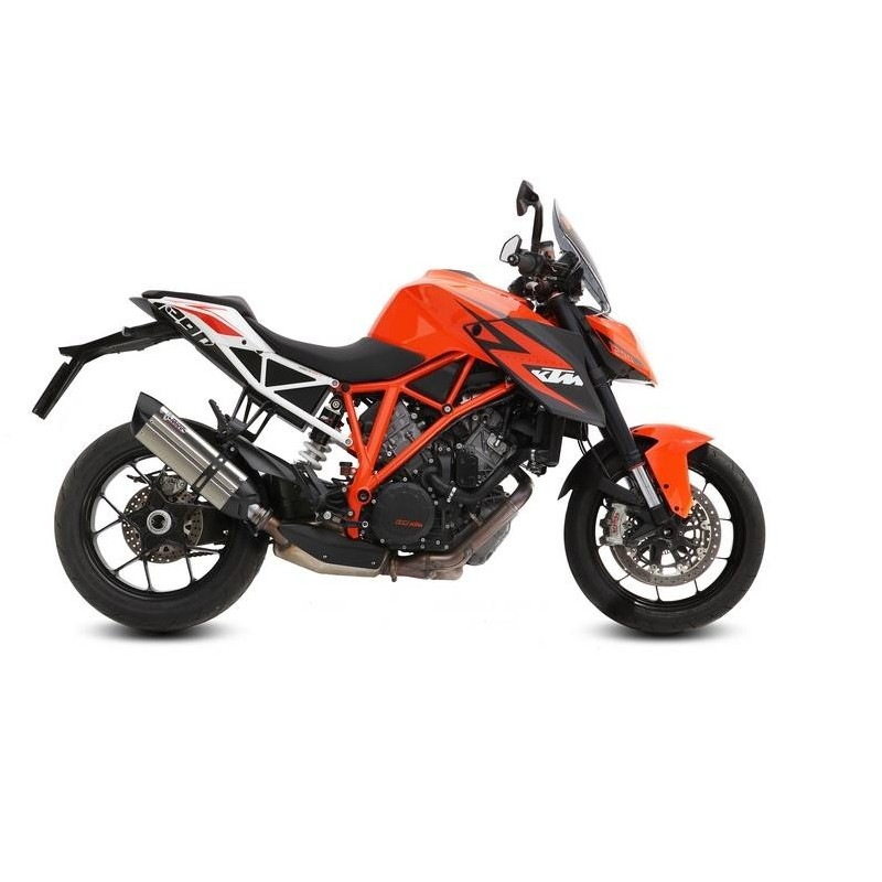 MIVV SOUND EXHAUST SYSTEM IN STAINLESS STEEL CARBON CUP FOR KTM 1290 SUPER DUKE R 2014/2019, APPROVED