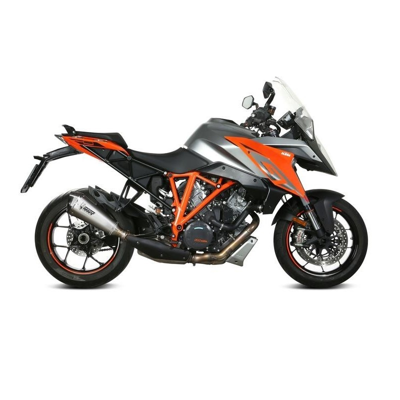 MIVV DELTA RACE EXHAUST TERMINAL STAINLESS STEEL CARBON BASE FOR KTM 1290 SUPER DUKE GT 2016/2020, APPROVED