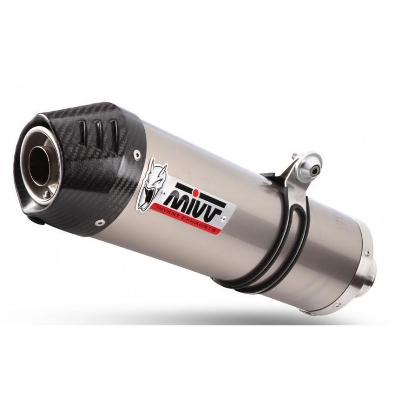 EXHAUST MIVV OVAL TITANIUM WITH CARBON BASE FOR MOTO GUZZI GRISO 850, APPROVED