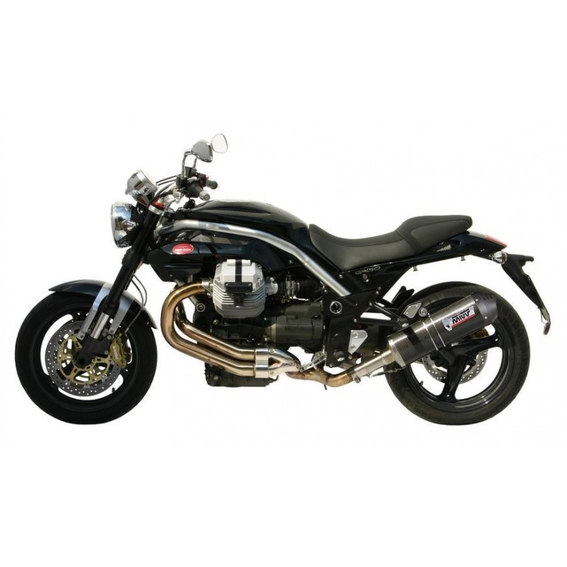 MIVV OVAL EXHAUST TERMINAL IN CARBON WITH CARBON BASE FOR MOTO GUZZI GRISO 850, APPROVED