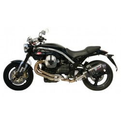 MIVV OVAL EXHAUST TERMINAL IN CARBON WITH CARBON BASE FOR MOTO GUZZI GRISO V8 1200, APPROVED