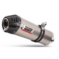 EXHAUST MIVV OVAL TITANIUM WITH CARBON BASE FOR MOTO GUZZI GRISO V8 1200, APPROVED