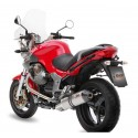 MIVV OVAL EXHAUST SILENCER IN TITANIUM WITH CARBON BASE FOR MOTO GUZZI BREVA 1100, APPROVED