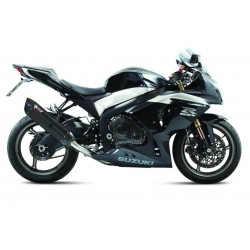 PAIR OF EXHAUST SYSTEMS MIVV SUONO BLACK FOR SUZUKI GSX-R 1000 2009/2011, APPROVED