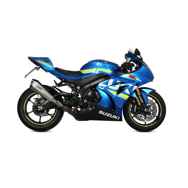 MIVV DELTA RACE EXHAUST TERMINAL STAINLESS STEEL CARBON BASE FOR SUZUKI GSX-R 1000 R 2017/2020, APPROVED