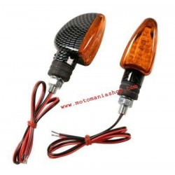 PAIR OF APPROVED LAMP DIRECTION INDICATORS, CARBON LOOK COLOR