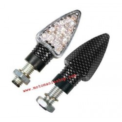 PAIR OF APPROVED ARROW DIRECTION INDICATORS, CARBON LOOK COLOR