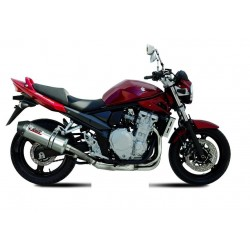 EXHAUST MIVV OVAL TITANIUM WITH CARBON BASE FOR SUZUKI BANDIT 650/S 2007/2010, APPROVED
