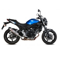 EXHAUST MIVV OVAL TITANIUM WITH CARBON BASE FOR SUZUKI SV 650 2016/2020, APPROVED