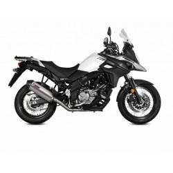 EXHAUST MIVV OVAL TITANIUM WITH CARBON BASE FOR SUZUKI V-STROM 650 2017/2020, APPROVED