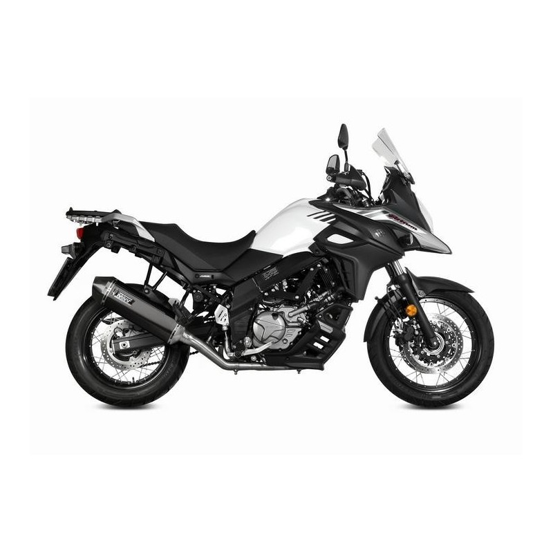 EXHAUST TERMINAL MIVV SPEED EDGE BLACK FOR SUZUKI V-STROM 650 2017/2020, APPROVED