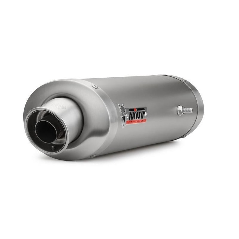 EXHAUST MIVV OVAL TITANIUM FOR TRIUMPH DAYTONA 675/R 2006/2011, APPROVED