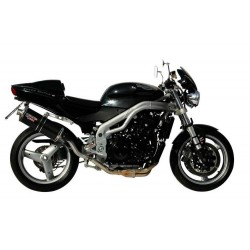CARBON OVAL MIVV EXHAUST TERMINAL WITH HIGH PASS FOR TRIUMPH SPEED TRIPLE 2002/2004, APPROVED