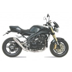 MIVV X-CONE STAINLESS STEEL EXHAUST PIPE FOR TRIUMPH SPEED TRIPLE 2005/2006, APPROVED