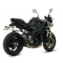 MIVV GP EXHAUST TERMINAL IN CARBON FOR TRIUMPH SPEED TRIPLE 2005/2006, APPROVED