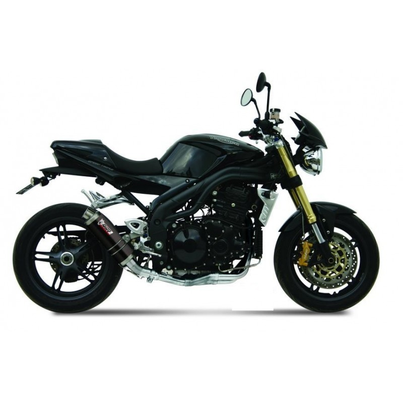 MIVV GP BLACK EXHAUST TERMINAL FOR TRIUMPH SPEED TRIPLE 2005/2006, APPROVED