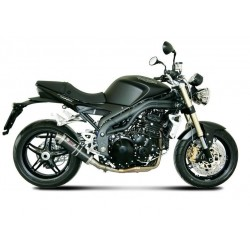 MIVV GP EXHAUST TERMINAL IN CARBON LOW PASSAGE FOR TRIUMPH SPEED TRIPLE 2007/2010, APPROVED