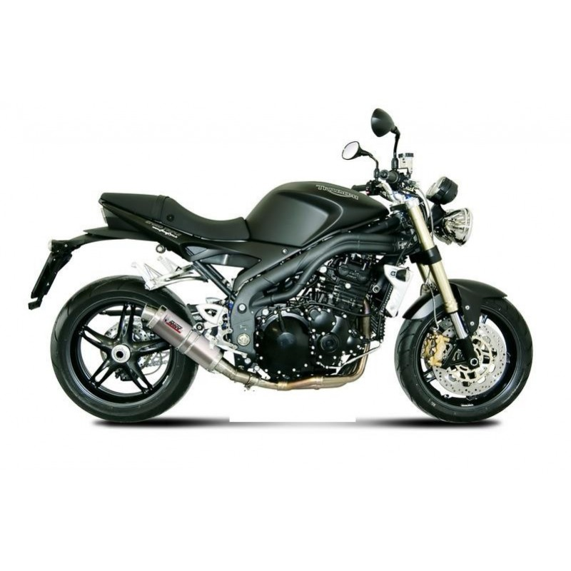 MIVV GP TITANIUM EXHAUST TERMINAL LOW PASSAGE FOR TRIUMPH SPEED TRIPLE 2007/2010, APPROVED